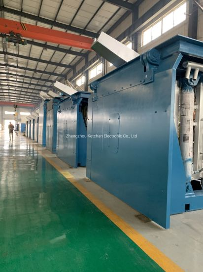 Scrap Steel Aluminum Copper Medium Frequency Electric Induction Metal Smelting Furnace