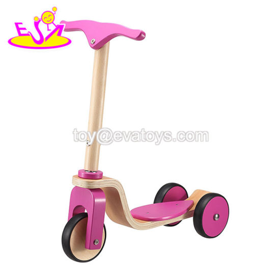 2018 New Hottest 3 Wheels Wooden Scooter for Toddlers W16b006