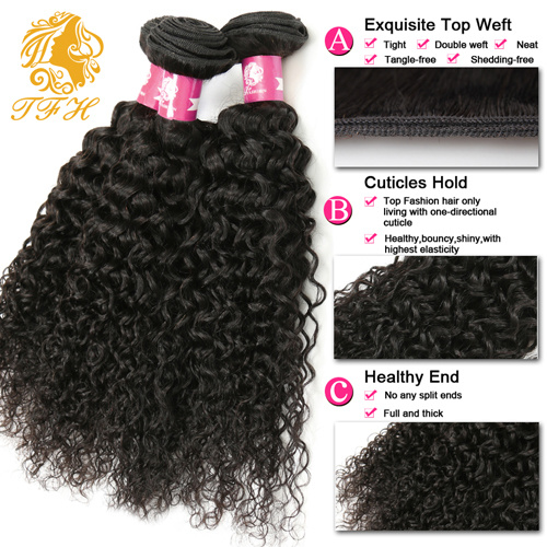Virgin Brazilian Human Hair Kinky Curly Virgin Hair pictures & photos