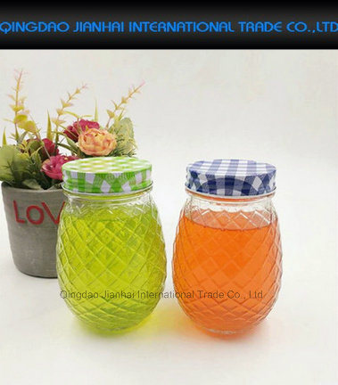 480ml Great Gift Pineapple Style Mason Jar Drinking Glass