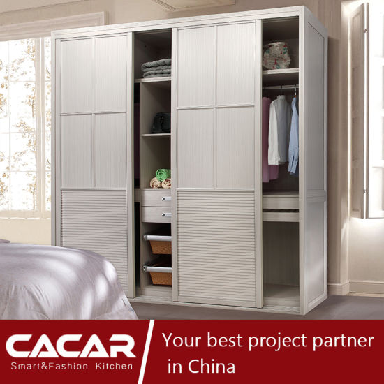 China Prague Elegant Modern Style Bedroom Wardrobe with PVC Door ...