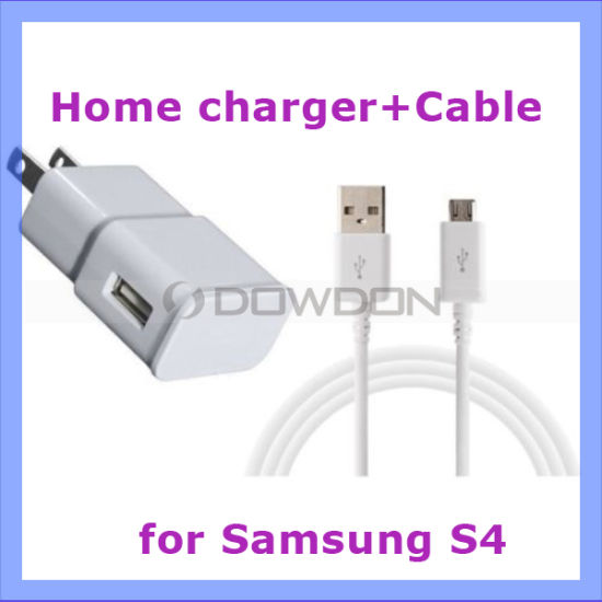 2 in 1 Mix 5V 2.4A Wall Charger Micro USB Data Cable for Samsung Galaxy S7