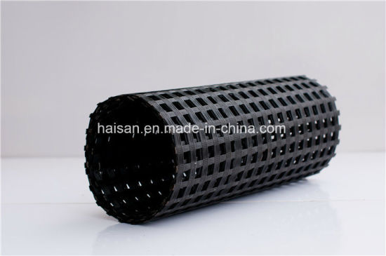 High Quality 200kn/M2 Road Reinforcement Fiber Glass Geogrid pictures & photos