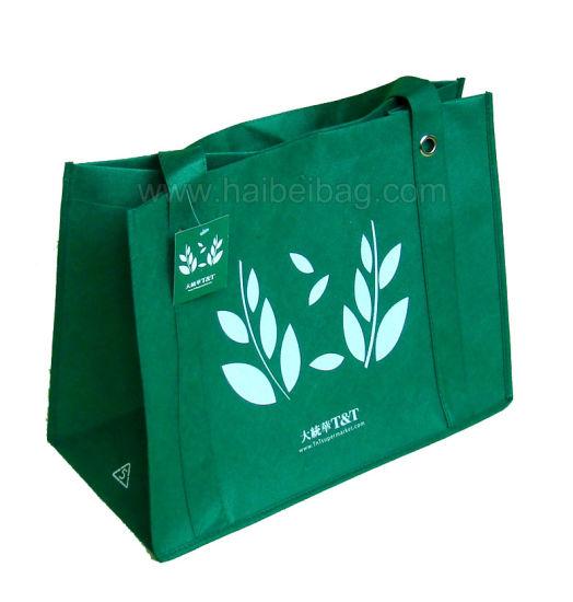 Green PP Non-Woven Shopping Bag (HBNB-23)