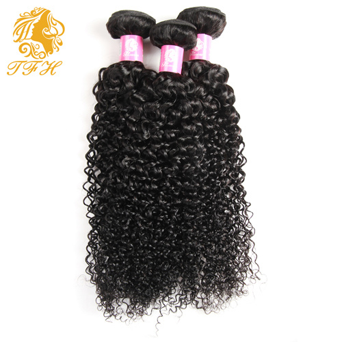 Peruvian Curly Hair with Closure Soft Human Hair 3 Bundles Deal with Lace Closure 8A Peruvian Kinky Curly Hair with Closure pictures & photos