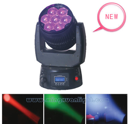 7X15W RGBW 4in1 Color LED Wash Moving Head Light