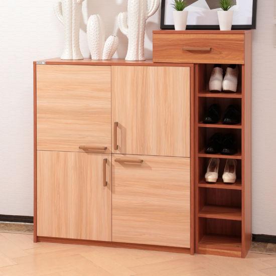 Oppein Custom Handle Design Wood Shoes Cabinet (XG11306)