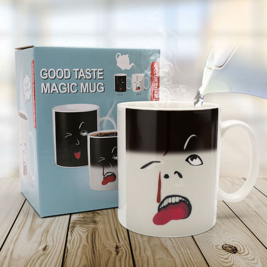 Halloween Wholesale Good Taste Color Change Coffee Cup Creative Opening Cute Gift Ceramic Mug