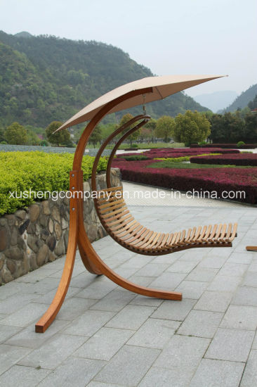 Wood Frame Outdoor Balcony Garden Patio Hanging Swing Chair