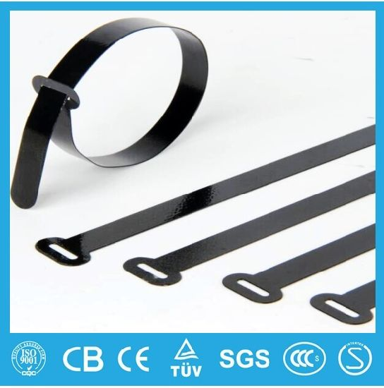 Self Locking PVC/Polyester Coated Stainless Steel Ss Metal Cable Tie