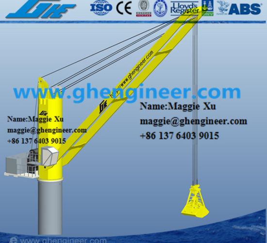 Electric Hydraulic Grab Ship Deck Crane pictures & photos