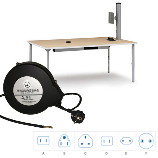 Parlor Table Cable Organizer Extension Cord Rewinder