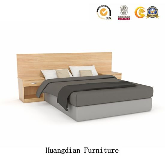 China 4 Star Modern Hotel Bedroom Furniture Solid Wood King Size