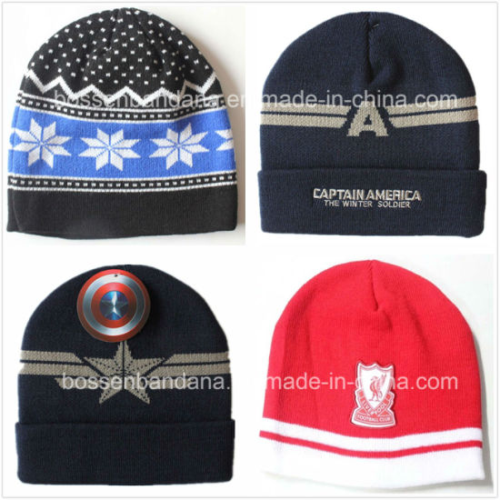 c3ba34a0a12 China Factory Produce Customized Logo Embroidered Red Acrylic Winter  Knitted Beanie