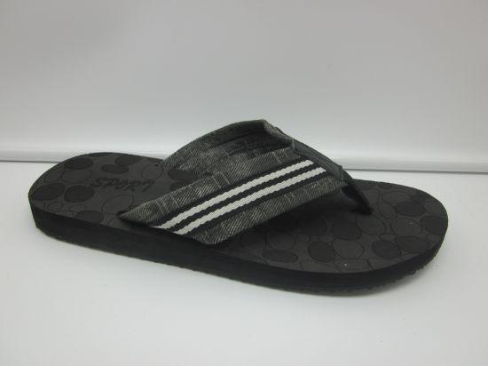 0a1b1597a04d8 China Summer New Arrival Fashion Men Fabric Flip Flops - China Flip ...