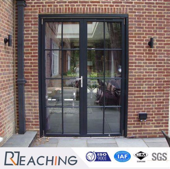 China Modern Grid Aluminium Hinged Door with Frame Cover - China ...