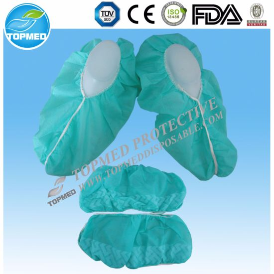 Disposable Plastic PE Shoes Cover pictures & photos
