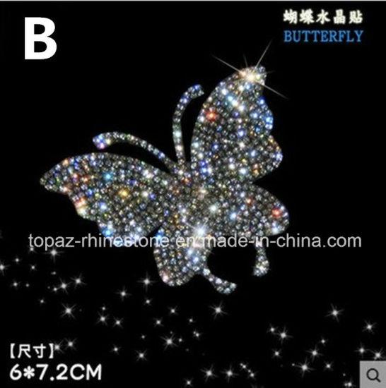 Crystal Sticker Self Adhesive Butterfly Czech Crystal Car Sticker 3D Car Accessories (TP-butterfly02)