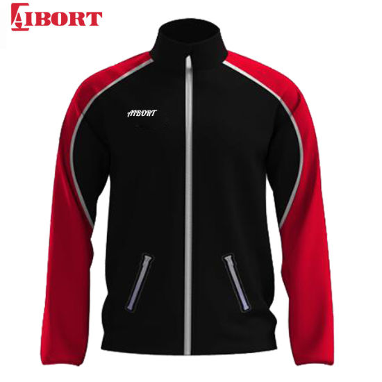 Aibort 2020 New Design Red and Black Zip-up Jacket (Z-TKJ200214B)