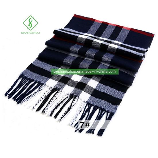 b5b5f7e50 China Hot Sale Cashmere Plaid Shawl Fashion Men′s Warm Scarf - China ...