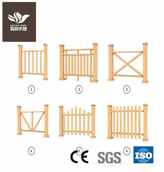 100*100mm Wood Plastic Composite Fence Railing pictures & photos