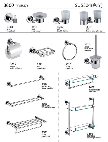 China Best Price 304 Stainless Steel Bathroom Fittings With Polished