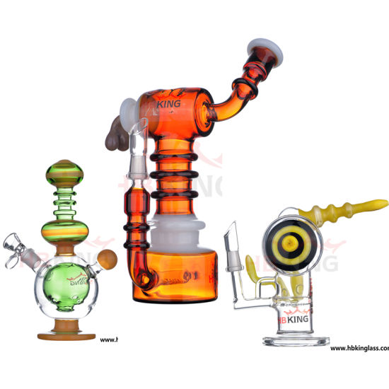Hb King 2017 Sexy Design Recycler Cross Difusser Glass Smoking Water Pipe Ice Catcher Twist Glass Bubbler Tobacco Pipe pictures & photos