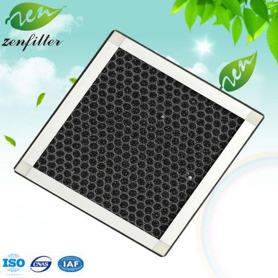 Flat Panel Aluminum Frame Honeycomb Activated Carbon Sponge Filter
