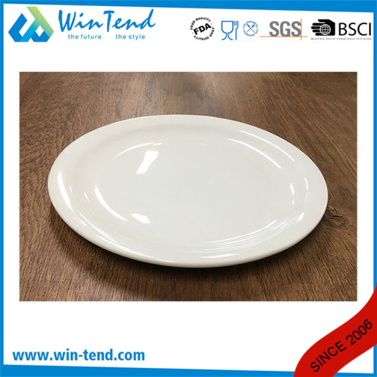 Wholesale White Porcelain Buffet Flat Plate Dish pictures & photos