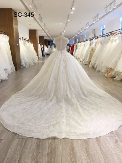 Lace Product Type And Eco Friendly Feature Mesh Fabric Wedding Dress