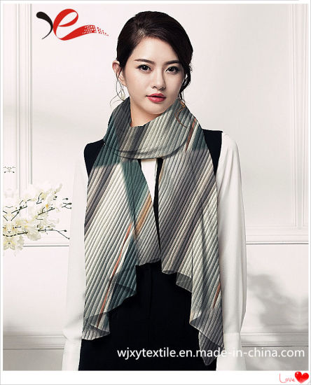 100% Polyester Silk Scarf with Digital Print for Spring and Autumn Seasons 180*70cm
