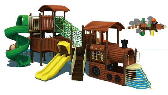 Popular Jungle Adventure Series Children Outdoor Playground (HD-4202) pictures & photos