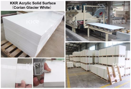 Glacier White 12mm Corian Sheets Pure Acrylic Solid Surface (180328) pictures & photos