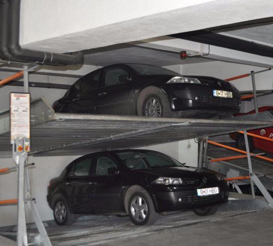 2 Levels Underground Garage Pit Incline Car Parking System