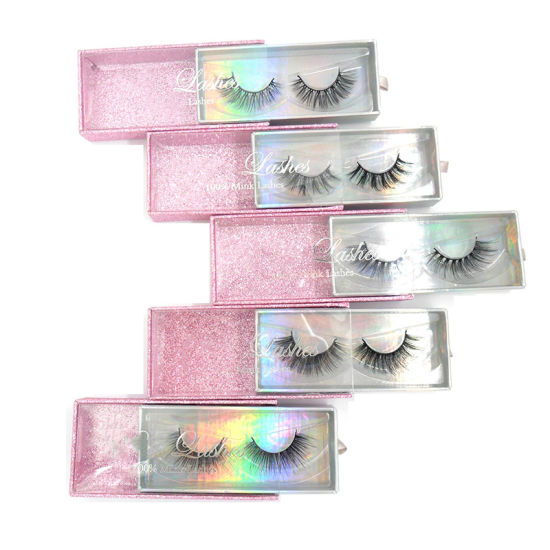 Private Label Lashes Custom Packaging Soft Cotton 3D Mink Eyelashes with Free Sample