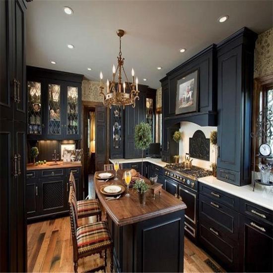 china black painting white melamine mdf high level kitchen cabinets