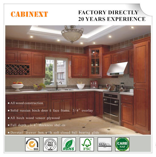 Modern Furniture Modular Kitchen Cabinets Solid Wood Factory Direct