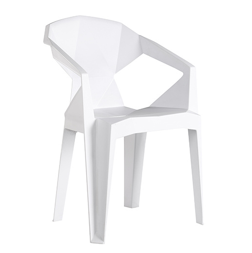 China White Plastic Stacking Garden Chairs China White Plastic