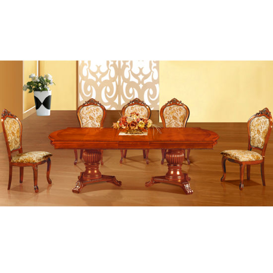 Wood Dining Table with Dining Chair for Home Furniture (808) pictures & photos
