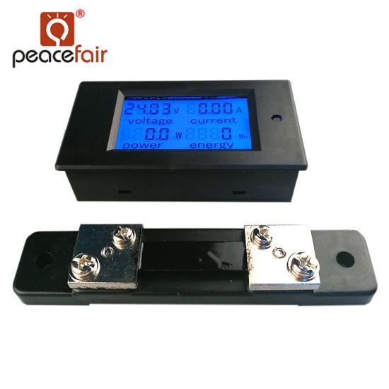 Manufacturer Supply DC 6.5-100V 50A 4in1 Digital Kwh Meter Energy Meter