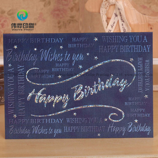 Custom New Arrival Printing Birthday Cards Pictures Photos