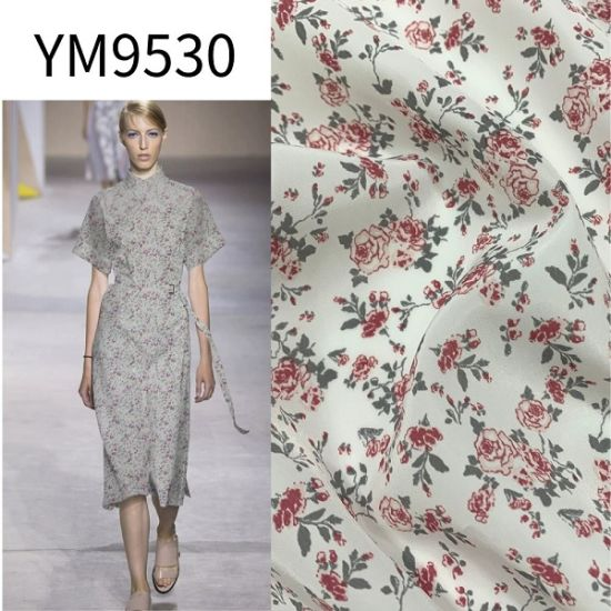 Ym9530 Ity 20d 26D Chiffon Silk Like Polyester Fabric for Printed Printing Dress pictures & photos