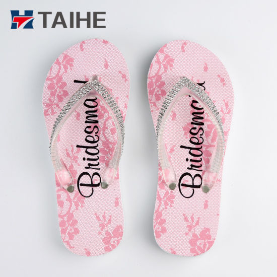 e9ea88083a7572 Custom Shiny Diamond Sole Beach Wedding Party Wedding EVA Flip Flops  pictures   photos