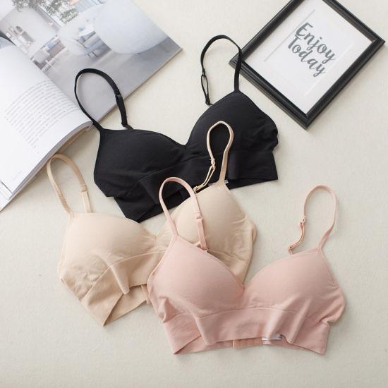 Simple Style Cotton Modal Underwear Sports Top Girls Daily Bra