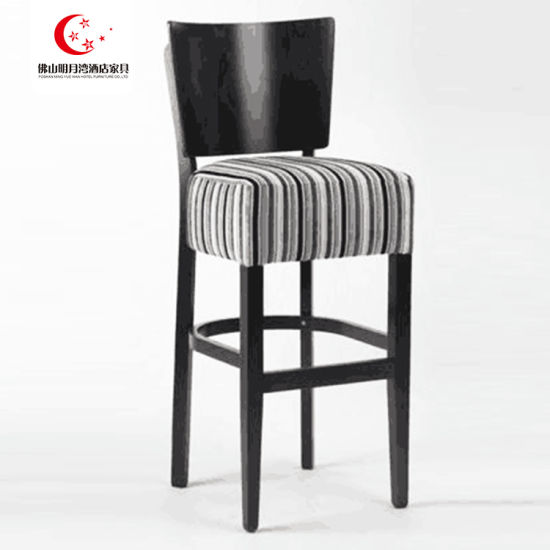 New Design Black PU Seat Wooden Wholesale Bar Chair Stool Chair