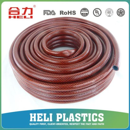 Flexible PVC Reinforced Suction Hose Garden Polyester Pipe