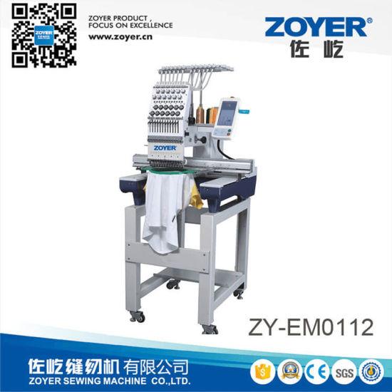 Zy-Em0112 Single Head 12 Needle Embroidery Machine