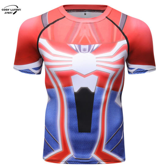 Cody Lundin 2021 Cody Rashguard Short Sleeve Print T Shirt for Men Running Sportswear
