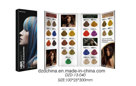 4 Pages Folded Hair Color Chart pictures & photos