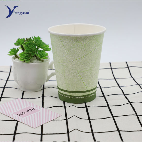 Single Wall Paper Cup with Lid, Coffee Cup, Factory Qatar Market Use